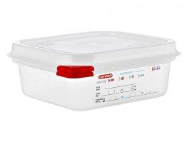 Pojemnik gastronomiczny GN 1/6 zpokrywką, polipropylenowy, HACCP, wys. 65 mm, poj. 1,1 l