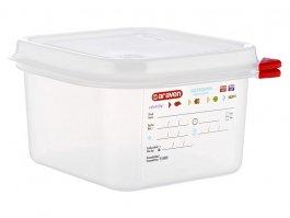 Pojemnik gastronomiczny GN 1/6 zpokrywką, polipropylenowy, HACCP, wys. 100 mm, poj. 1,7 l