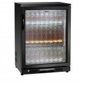 Lodówka barowa, chłodziarka, szafa chłodnicza, moc 130 W, pojemność 146 l, czarna, BARTSCHER 700121