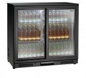 Lodówka barowa, chłodziarka, szafa chłodnicza, moc 175 W, pojemność 176 l, czarna, BARTSCHER 700122