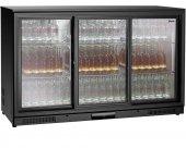 Lodówka barowa, chłodziarka, szafa chłodnicza, moc 220 W, pojemność 270 l, czarna, BARTSCHER 700123