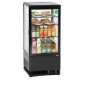 Witryna chłodnicza MINI, chłodziarka kompaktowa, moc 180 W, poj. 78 l, czarna, BARTSCHER 700277G