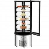 Witryna chłodnicza do ciast, tortów, 6 półkowa, moc 480W, poj.400l, czarno-srebrna, BARTSCHER 700314