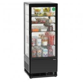Witryna chłodnicza Mini 98L-SW, chłodziarka, moc 180W, pojemność 98 l, czarna, BARTSCHER 700398G