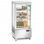 Witryna chłodnicza Mini 78L, chłodziarka nierdzewna, moc 180W, poj. 78l, srebrna, BARTSCHER 700478G