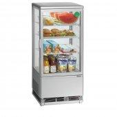 Witryna chłodnicza MINI, chłodziarka kompaktowa, moc 180 W, poj. 78 l, srebrna, BARTSCHER 700778G