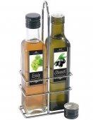 Zestaw do przypraw, 2 elementowy, ocet i oliwa, poj. 250ml, wys. 25,5 cm, chromowany, model 2727/250