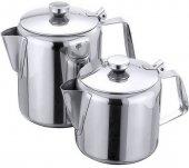 Dzbanek nierdzewny do herbaty, z sitkiem i odchylaną pokrywą, poj. 0,3 l, model 504/035
