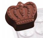 Forma poliwęglanowa KORONA do pralinek, do wyrobu czekoladek, wym. 27,5x13,5 cm, model 6751/018
