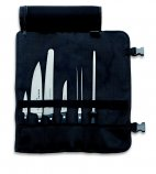 Zestaw 4 noży i 2 narzędzi kuchennych w etui, komplet kucharski w czarnym etui, DICK 8106700