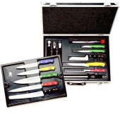 Zestaw 18 elementowy szefa kuchni HACCP, wneseserze zmagnetycznym mocowaniem noży, DICK 8116600