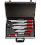 Zestaw 5 noży RED SPIRIT wraz ze stalką, w neseserze z magnetycznym podtrzymaniem, DICK 8117300