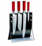 Zestaw 4 noży RED SPIRIT w bloku 4KNIFES z tworzywa, komplet 5-częściowy, DICK 8177200
