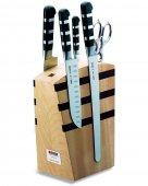 Zestaw 4 noży seria 1905, rozkładane nożyczki, w bloku magnetycznym z drewna, DICK 8197000