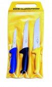 Zestaw 3 częściowy noży ERGOGRIP, noży masarskich z plastikowymi uchwytami, kolorowe, DICK 8257000
