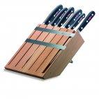 Zestaw 5 kutych noży PREMIER PLUS, z widelcem do mięsa, w bloku drewnianym, DICK 8802000