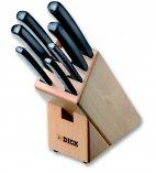 Zestaw 7 profesjonalnych noży PRO-DYNAMIC, w bloku drewnianym, czarne, DICK 8803000