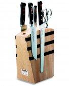 Zestaw 4 kutych noży PREMIER PLUS, rozkładane nożyczki, blok magnetyczny, DICK 8809000