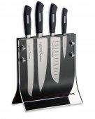 Zestaw 4 noży serii ActiveCut w bloku magnetycznym, nierdzewne, czarne, DICK 8907200