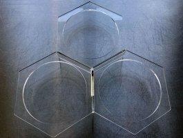 Podstawa pod pojemniki, 3-komorowa, transparentna