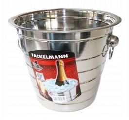 Wiaderko nierdzewne do chłodzenia szampana, wym. 22x20,5 cm