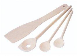 Zestaw łyżek drewnianych iłopatki kuchennej, op. 4sztuk