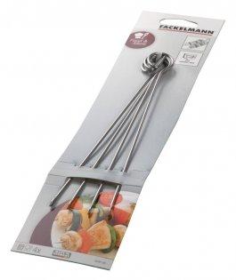 Szpilki metalowe do szaszłyków, dł. 21 cm, op. 4sztuk