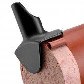 Nożyk PELLE do ściągania osłonek foliowych z wędlin, kiełbas, nierdzewny, czarny, GIESSER 6699