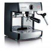 Ekspres do kawy, elektryczny, ciśnieniowy, nierdzewny, 1410 W, czarny, GRAEF PIVALLA ES 702