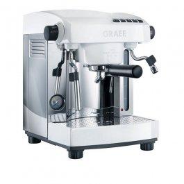 Ekspres do kawy, elektryczny, ciśnieniowy, nierdzewny, 2300 W, biały, GRAEF ES 91