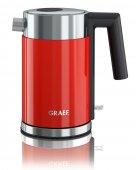 Czajnik elektryczny, nierdzewny, moc 2 kW, poj. 1 litr, czerwony, GRAEF WK 403