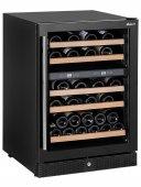 Lodówka do wina, winiarka, dwustrefowa, 44 butelki, czarna, poj. 155 l, HENDI 233221