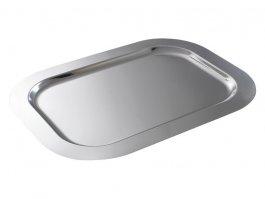 Taca cateringowa, prostokątna, zgładkim rantem, ze stali nierdzewnej, wym. 420x310 mm, HENDI 415207