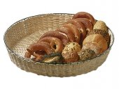 Koszyk okrągły idealnie nadaje się do serwowania kromek chleba, rogalików i wszelkiego rodzaju pieczywa, a także owoców.