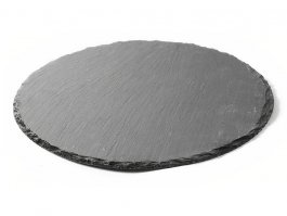Taca łupkowa do fingerfood, płyta łupkowa, okrągła, śr. 30 cm, zestaw 2sztuk, HENDI 424636