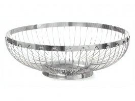 Koszyk okrągły do pieczywa iowoców, ażurowy, ze stali nierdzewnej, śr. 255 mm, HENDI 426302