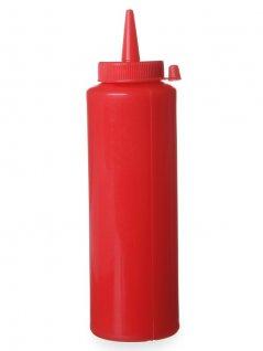 Dyspenser do zimnych sosów, czerwony, poj. 0,2 l, HENDI 558010