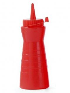 Dyspenser do zimnych sosów EASY SQUEEZE, czerwony, poj. 0,6 l, HENDI 558430