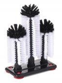 Szczotki do mycia szklanek, potrójne, wys. 180/250/180 mm, HENDI 696040