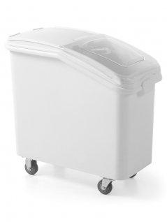 Wózek na artykuły sypkie, zpolietylenu, biały, poj. 81 l, HENDI 877913