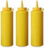 Dyspensery do zimnych sosów, poj. 0,2 l, zestaw 3 szt., żółte, 558034
