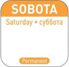 Naklejki Food Safety na każdy dzień tygodnia Sobota, wielorazowe, 850121