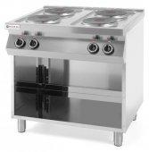 Kuchnia elektryczna 4-płytowa Kitchen Line na podstawie otwartej, 226223