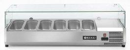 Nadstawka chłodnicza ze stali nierdzewnej zszybą, pojemność 6xGN 1/3, Profi Line 232972