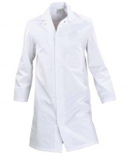 Fartuch HACCP, zapinany na napy, męski, prosty, rozm. 64, biały, KEGEL-BŁAŻUSIAK 4089-020-1080