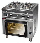 Kuchnia gazowa 4-palnikowa z piekarnikiem gazowym GN 1/1, 17,5 kW, KROMET 000.KG-4s/PG-1