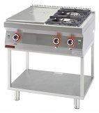 Kuchnia gazowa 2-palnikowa z płytą grzewczą na podstawie otwartej, 16,5 kW, KROMET 700.KG-2/I-400.T
