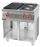 Kuchnia gazowa 2-palnikowa z płytą grzewczą na podstawie szafkowej, 16,5 kW, KROMET 700.KG-2/I-400.S