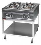 Kuchnia gazowa 4-palnikowa na podstawie otwartej, 13 kW, KROMET 000.KG-4s.T