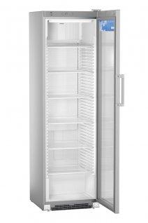 Szafa chłodnicza FKDv 4503, 1-drzwiowa, przeszklona, sterowanie mechaniczne, srebrna, poj. 449 l